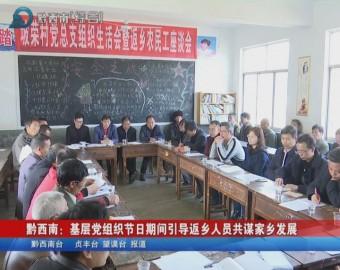 黔西南:基層黨組織節日期間引導返鄉人員共謀家鄉發展